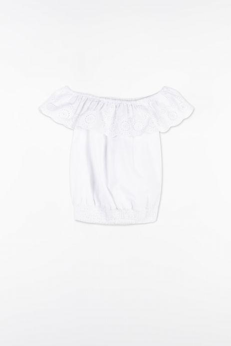 Bluse mit kurzen Ärmeln