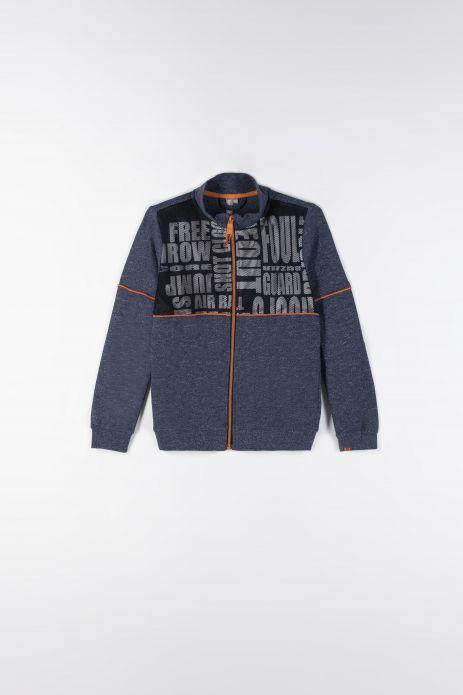 Sweatshirt mit Reißverschluss mit Reißverschluss